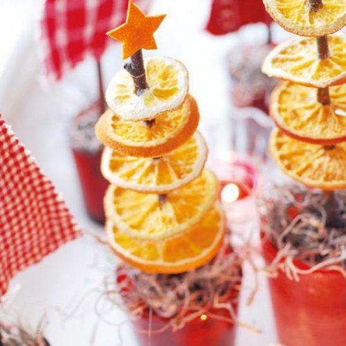 Kalėdinės eglutės iš apelsinų