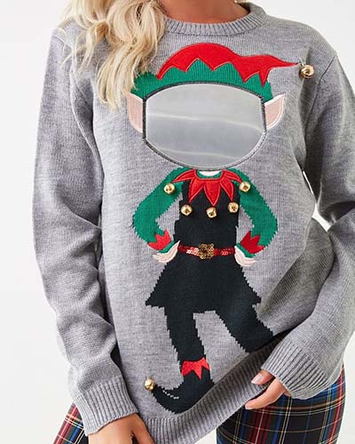 Bjaurus kalėdinis megztinis Forever21