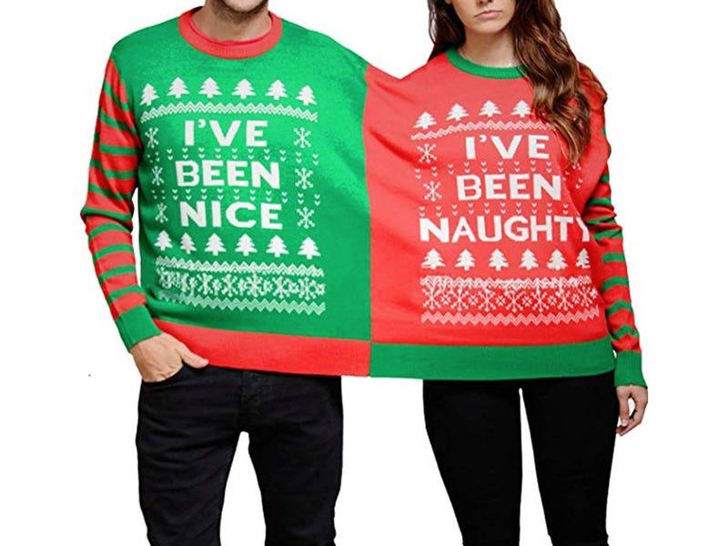 Bjaurus kalėdinis megztinis dviems