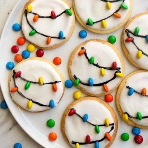 Sausainiai su lemputėmis