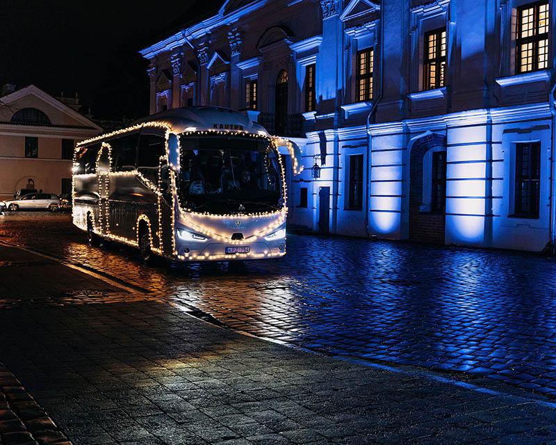 Kauniečiams Kalėdos bus pristatomos autobusu